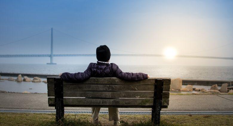 guy on bench